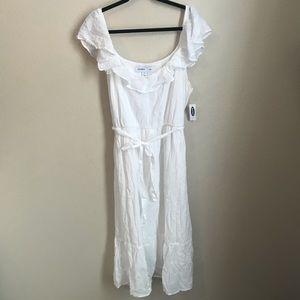 White Cami Midi Dress